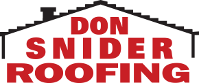 Don Snider Roofing text in red.